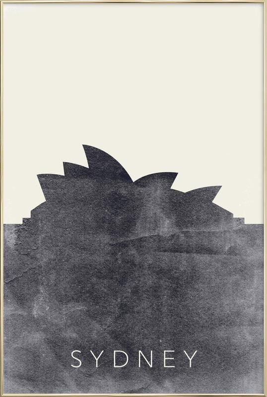 Sydney -Poster im Alurahmen