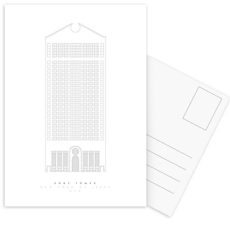 The Sony Building Postcard Set