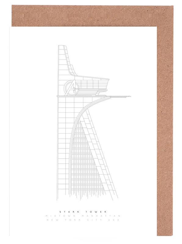Stark Tower Greeting Card Set