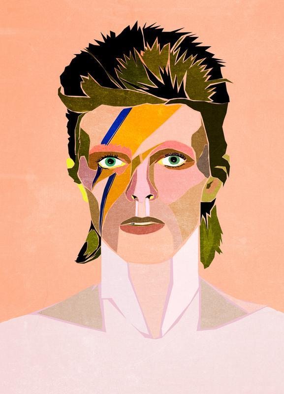 David Bowie Portrait Canvas Print