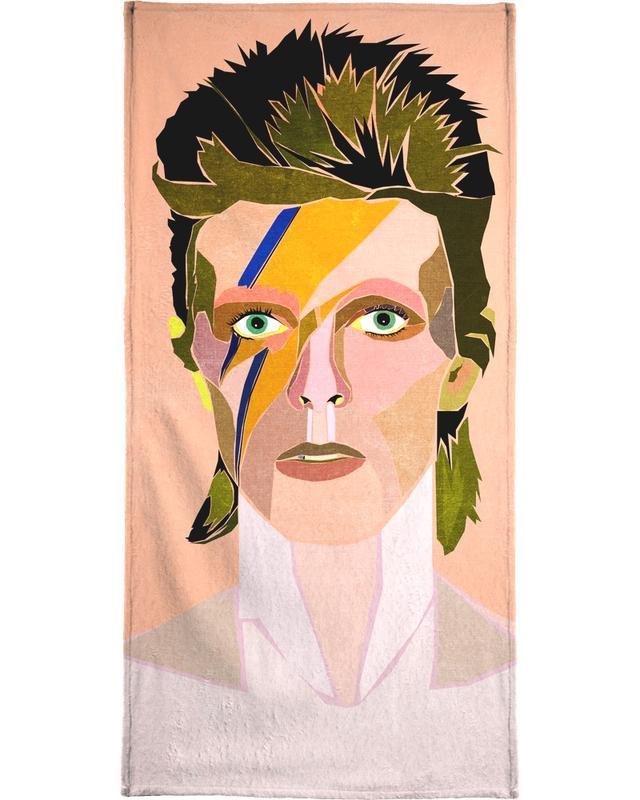 David Bowie Portrait -Handtuch