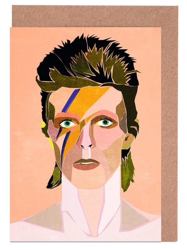 David Bowie Portrait Greeting Card Set