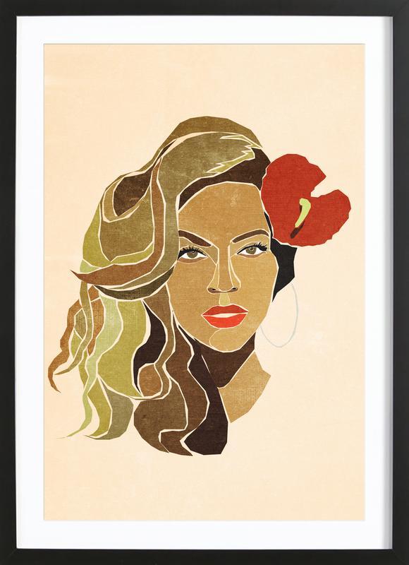 Beyoncé Portrait Framed Print