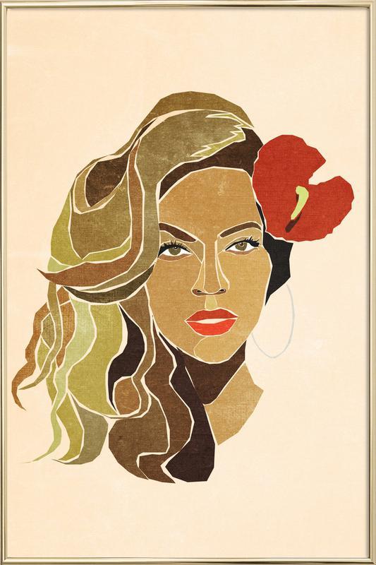 Beyoncé Portrait affiche sous cadre en aluminium