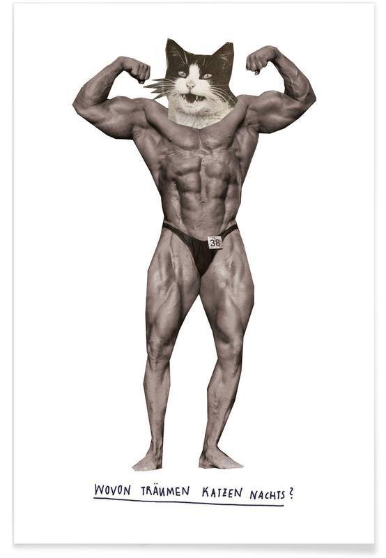 Zwart en wit, Grappig, Muskelkater poster