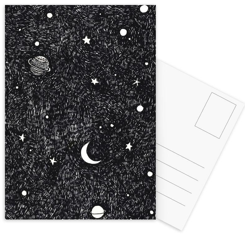 Weltall -Postkartenset