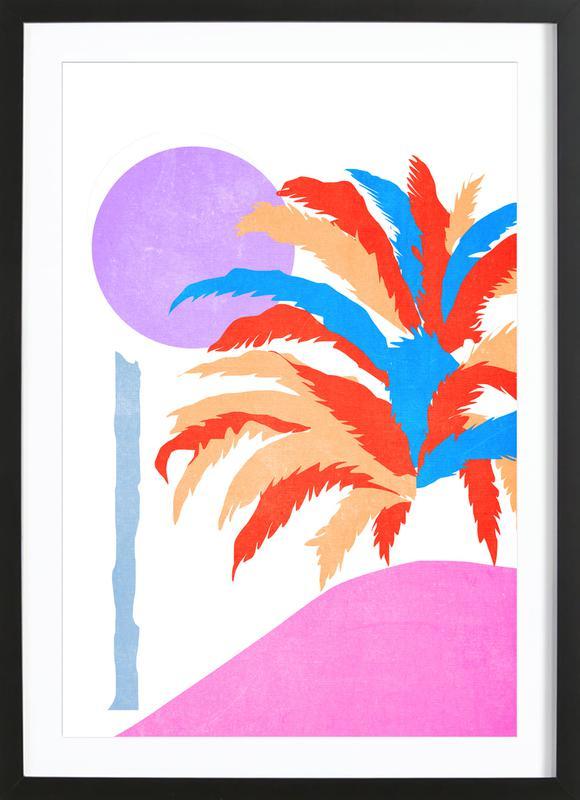 Palm 5 affiche sous cadre en bois