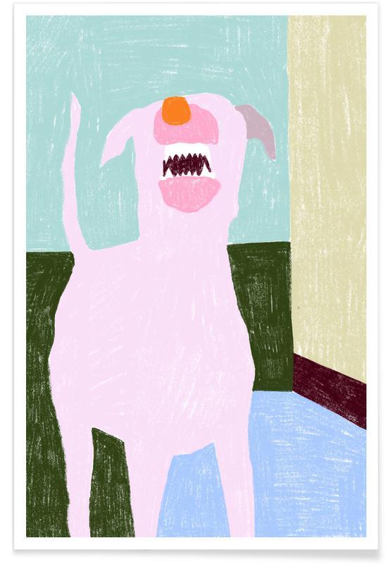 Honden, Bellender Hund poster