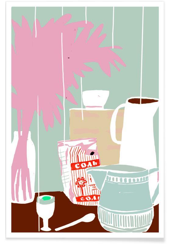 , Stillleben Frühstück 1 affiche