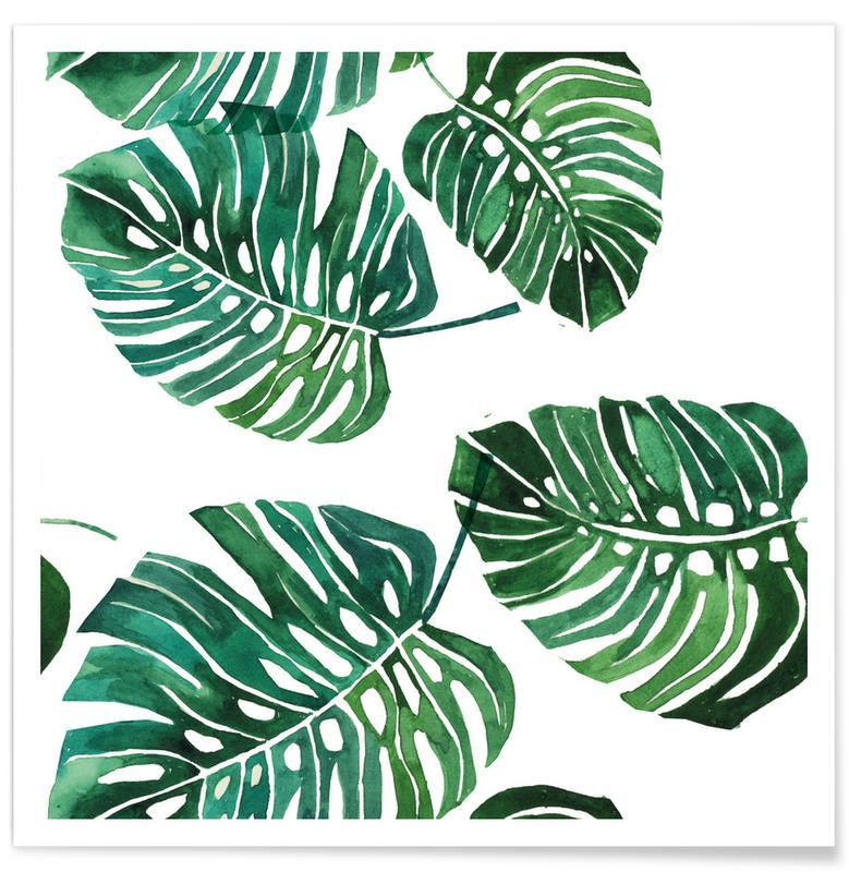 Bladeren en planten, Monstera Pattern poster