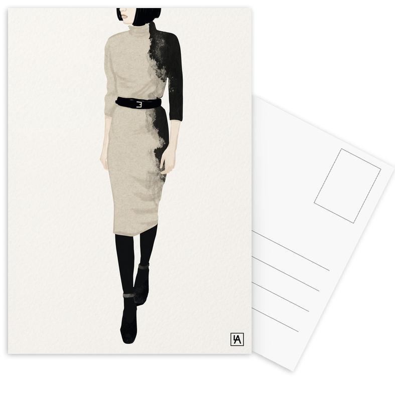 Mode-illustratie, BB Lady ansichtkaartenset