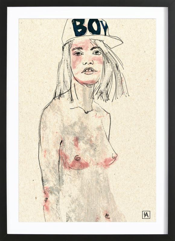 Girl Boy Framed Print