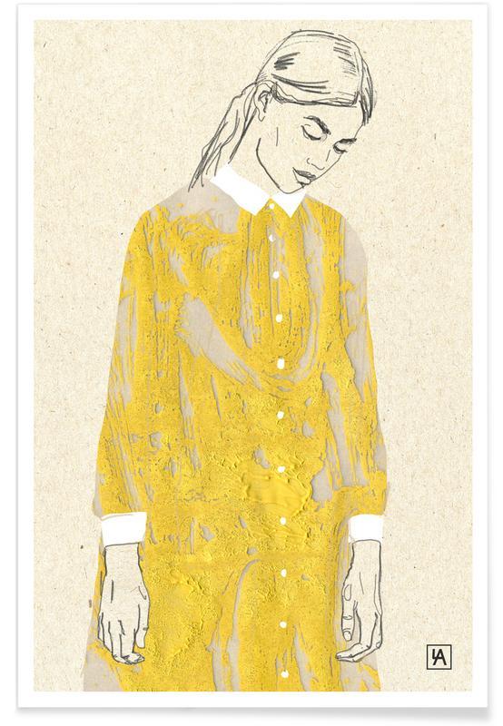 Modeillustration, Yellow -Poster