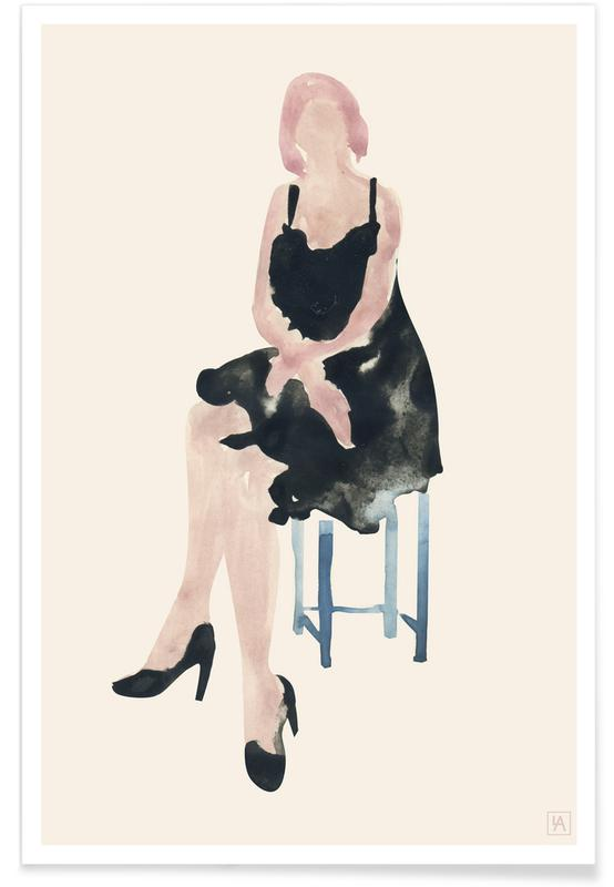 Blue Chair Poster