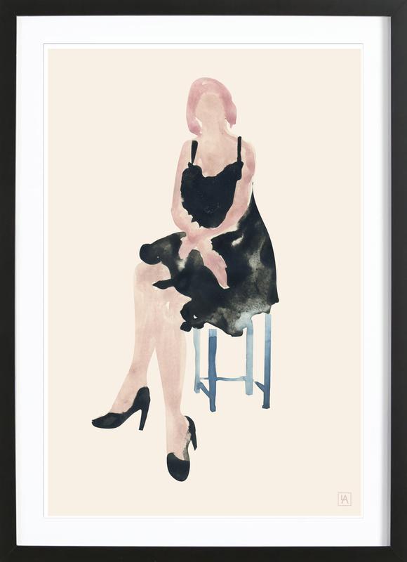 Blue Chair -Bild mit Holzrahmen