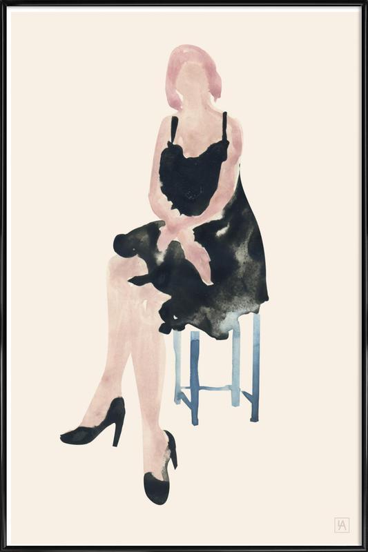 Blue Chair -Bild mit Kunststoffrahmen