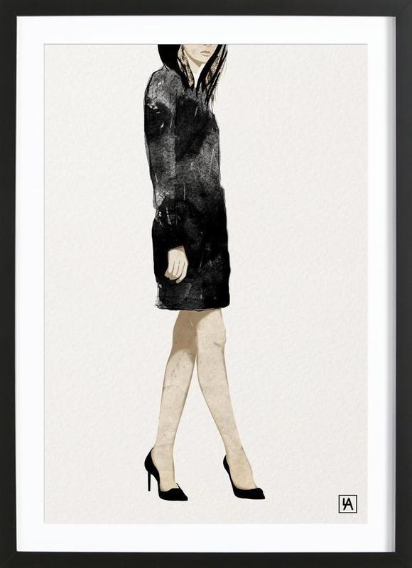 BB Lady 2 affiche sous cadre en bois