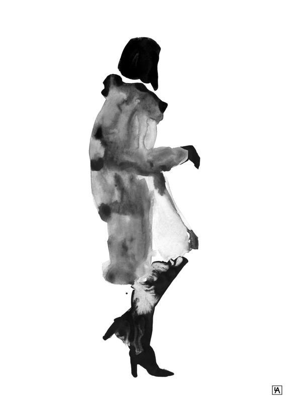 Ink Woman -Leinwandbild