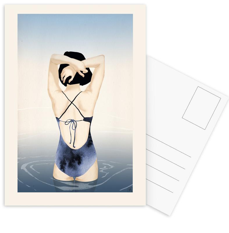 Schwimmen, Sea Girl -Postkartenset