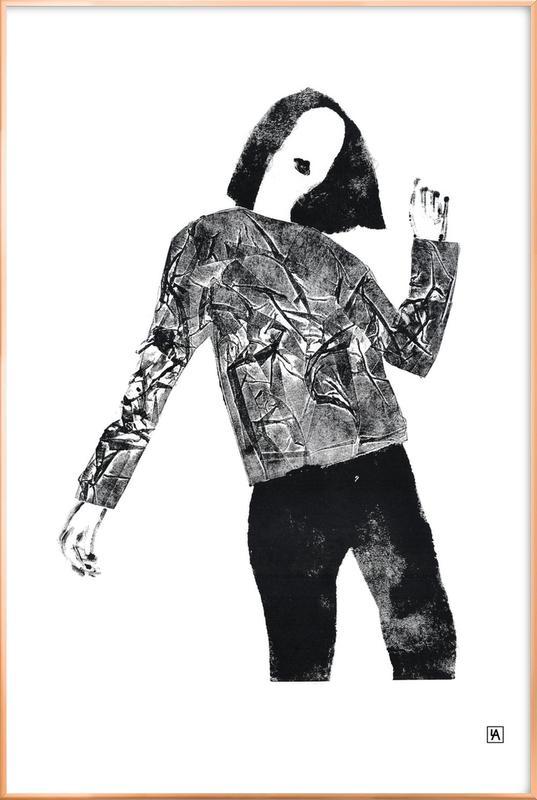 Monotype 2 Poster in Aluminium Frame