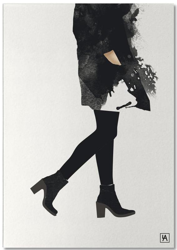 Schwarz & Weiß, Modeillustration, BB Mood -Notizblock
