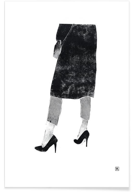 Zwart en wit, Monotype 7 poster