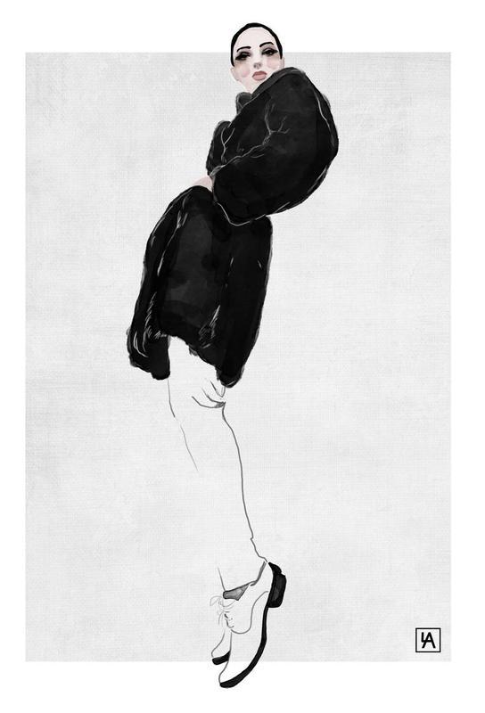 Black Coat -Acrylglasbild