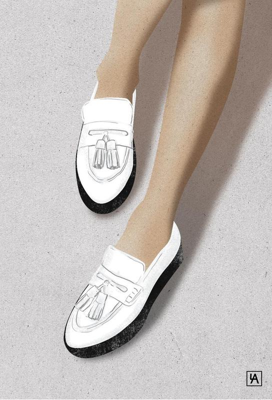 Legs & Shoes 2 tableau en verre