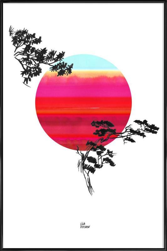 Japanese Sun -Bild mit Kunststoffrahmen