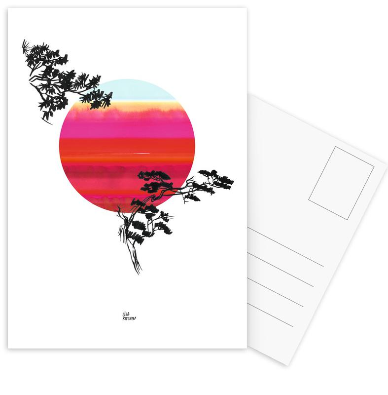 Japanese Sun Postcard Set