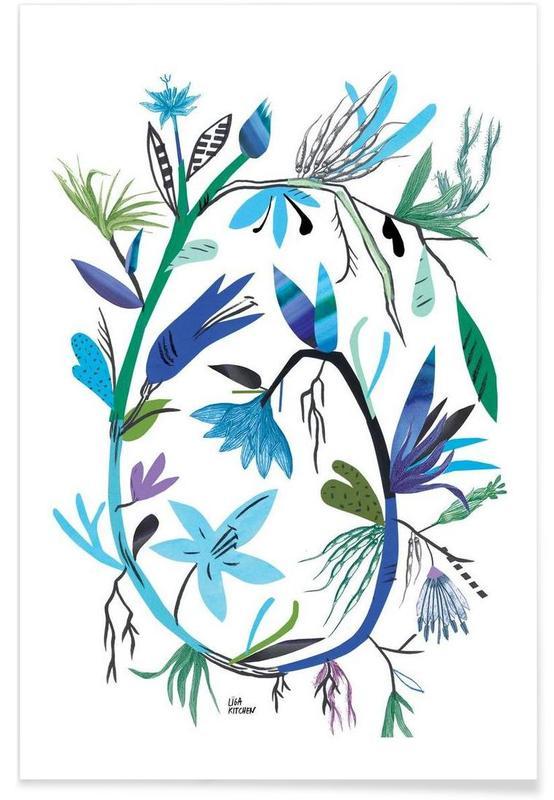 Botanica Clematis White Poster
