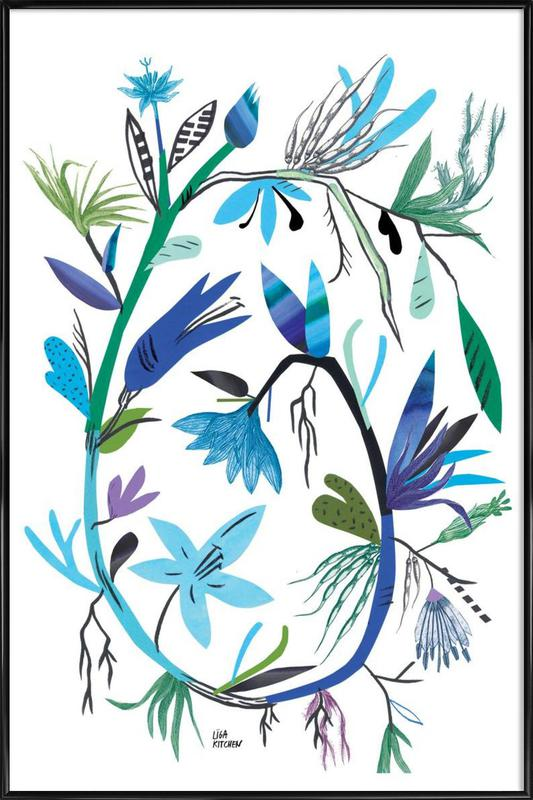 Botanica Clematis White -Bild mit Kunststoffrahmen