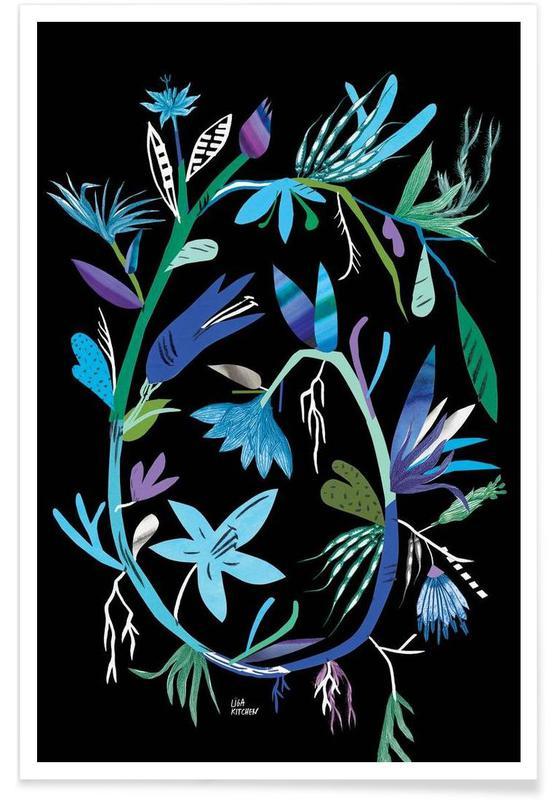 Botanica Clematis Black Poster