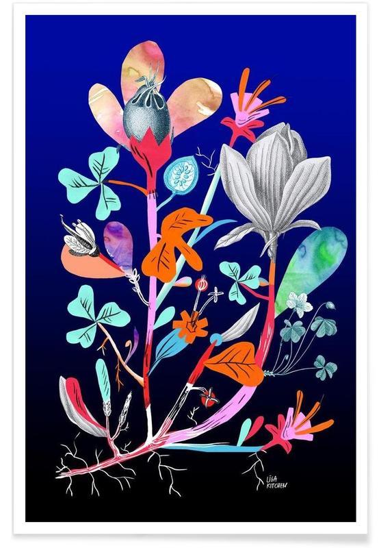 Botanica Blue Poster