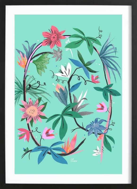 Botanica Passionflower 1 affiche sous cadre en bois