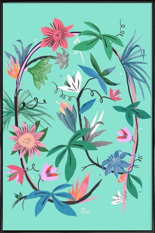 Botanica Passionflower 1 -Bild mit Kunststoffrahmen