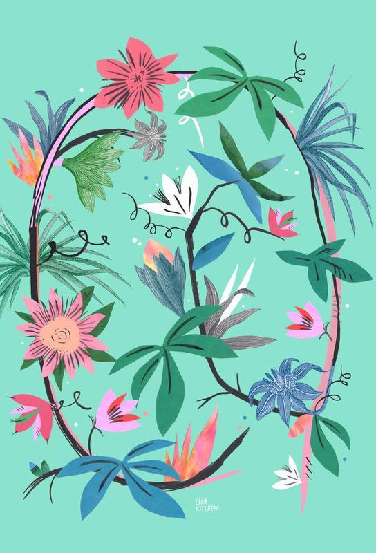 Botanica Passionflower 1 Impression sur alu-Dibond
