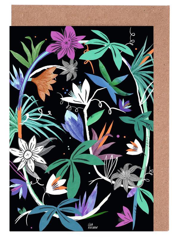 , Botanica Passionflower 4 Greeting Card Set