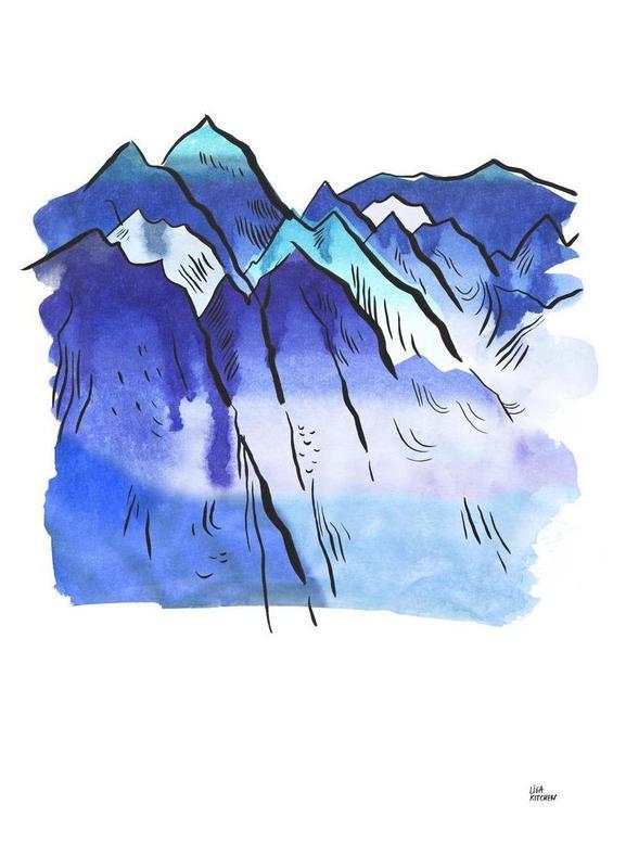 Japanese Mountains toile