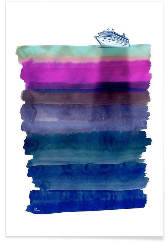 Paysages abstraits, Bateaux, Silent Sea affiche