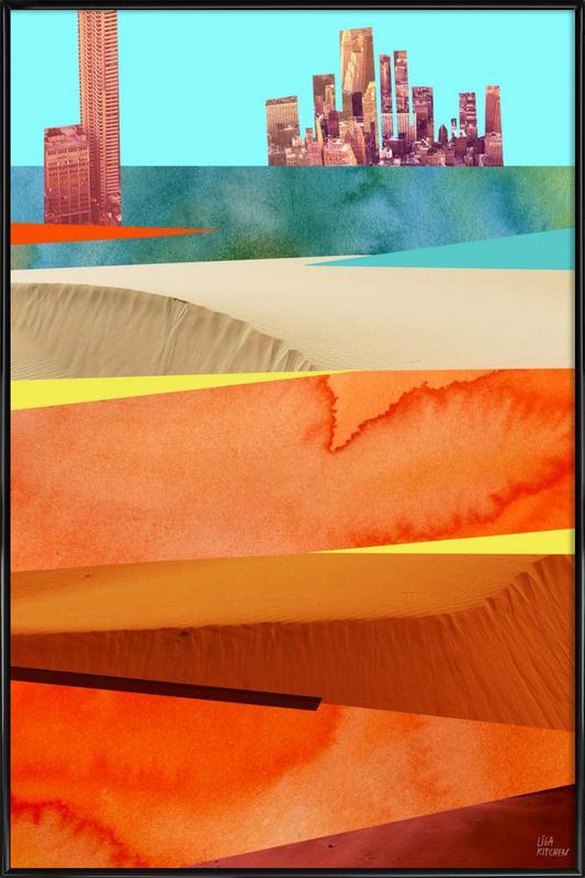 Lost Cities Desert -Bild mit Kunststoffrahmen