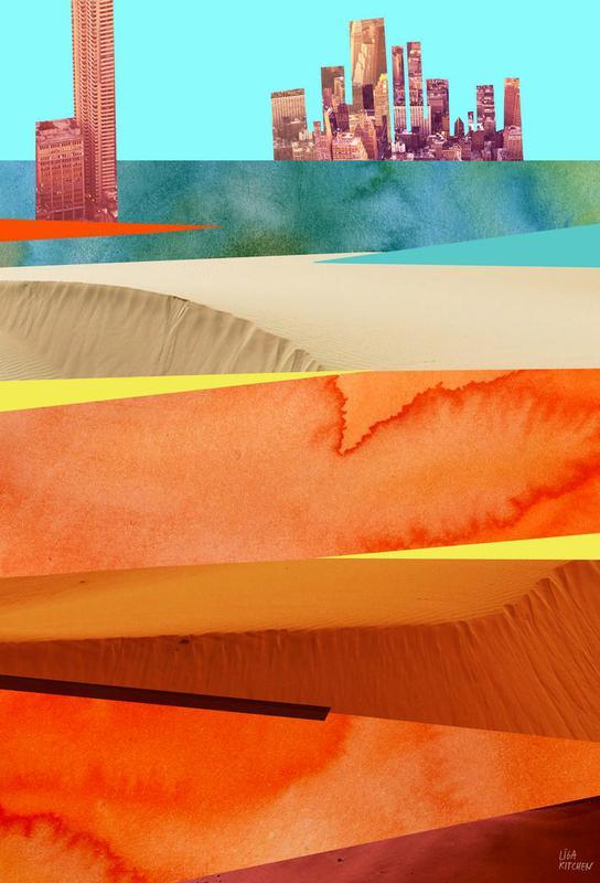 Lost Cities Desert -Acrylglasbild