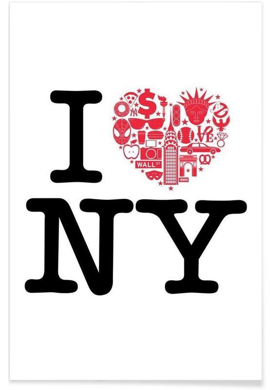 Voyages, Citations et slogans, New York, NY affiche