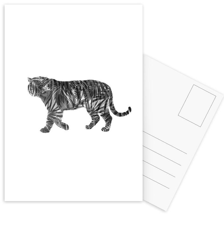Schwarz & Weiß, Tiger, Tiger -Postkartenset