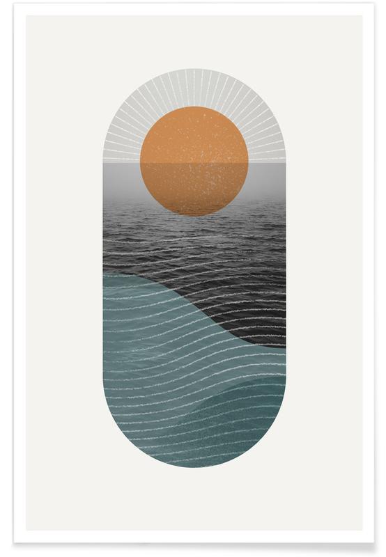 Abstracte landschappen, Texture Landscape 1 poster