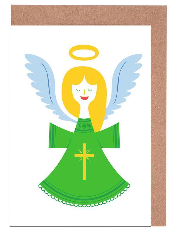 Christmas, Angel Greeting Card Set