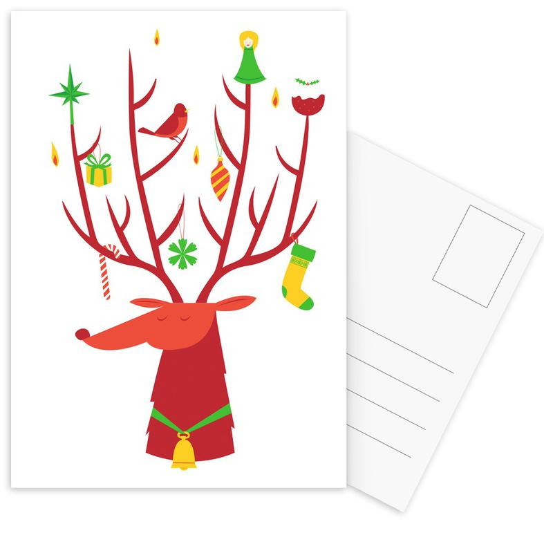 Reindeer Postcard Set