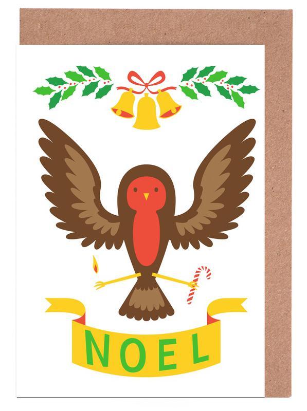 Christmas, Robin Greeting Card Set