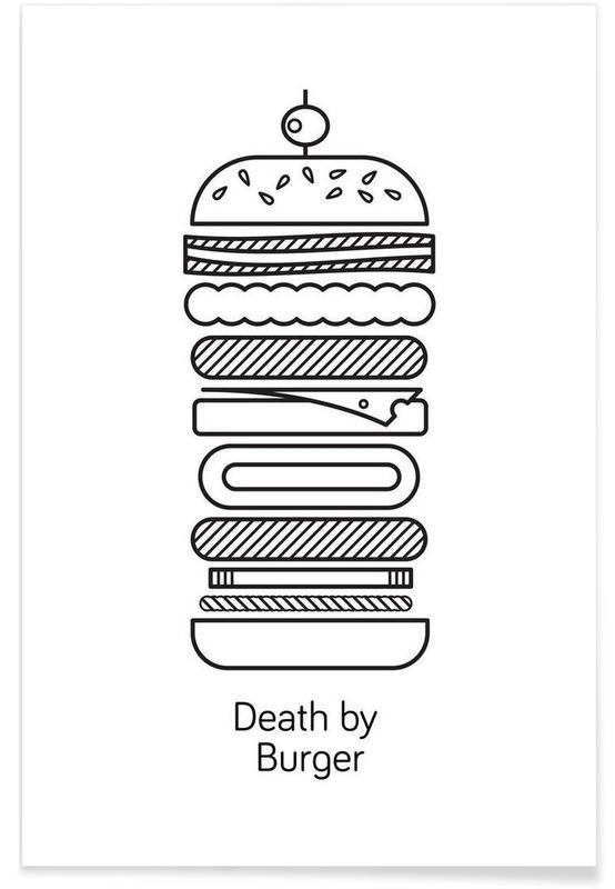 Schwarz & Weiß, Burger, Burger -Poster