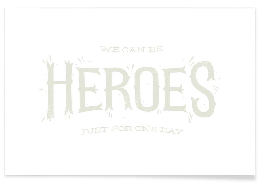 David Bowie, Songteksten, Heroes poster